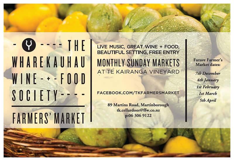 Te Kairanga Farmers market  Sunday 1st March 2015